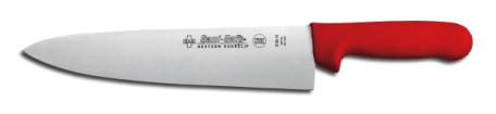 "S145-10R-PCP Sani-Safe Cook's Knife 10"" cook�s knife, red handle EACH"