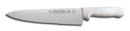 "S145-10SC-PCP Sani-Safe Cook's Knife 10"" scalloped cook's knife EACH"