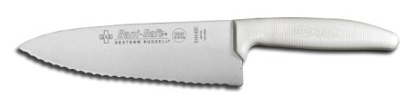 "S145-6SC-PCP Sani-Safe Cook's Knife 6"" scalloped cook's knife EACH"
