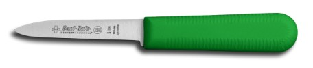 "S104G-PCP Sani-Safe Parer Paring Knife 3 1/4"" parer, green handle EACH"