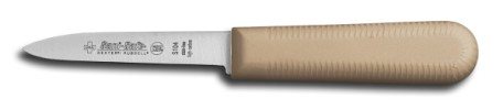 "S104T-PCP Sani-Safe Parer Paring Knife 3 1/4"" parer, tan handle EACH"