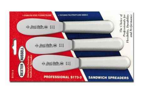 S173SC-3 Sani-Safe sandwich Spreaders 3-pack scalloped spreaders EACH