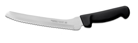 "P94807B Russell International Sandwich Knife 8"" offset sandwich knife, black hdl. EACH"