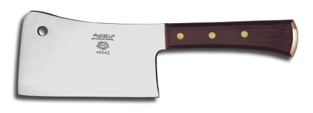 "49542 Russell International Meat Cleavers 6"" stainless steel cleaver EACH"